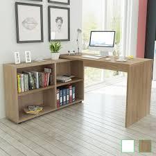 White Gloss Corner Desk Oak Desks And Computer Furniture Ebay