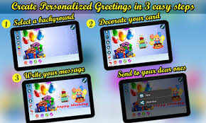 birthday greetings ecard maker android apps on play