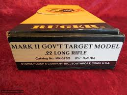ruger mark ii government target model pistol w box and manuals
