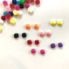 Shopamerica by Make These Rainbow Candy Button Earrings