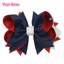 bows for 1pc 5inches kids hair bows 4th of july boutique bows for