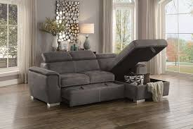 ferriday taupe sofa chaise sleeper andrew u0027s furniture and mattress
