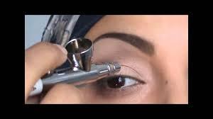 how to apply eye makeup using dinair airbrush youtube