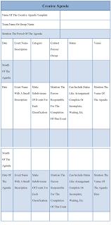 Creative Meeting Agenda Template by Creative Agenda Templates 3 Best Agenda Templates