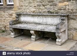 oxford university merton college old stone bench in mob quad