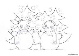 snowman love coloring pages hellokids