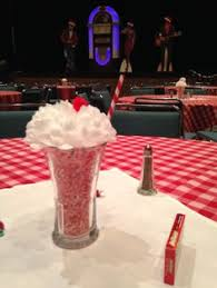 s table decorations   party tableware fifties party  with s sundae centerpieces we made for a s rocknroll themed holiday party from pinterestcom