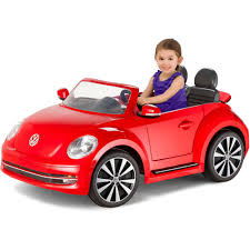 volkswagen christmas kid trax vw beetle convertible 12 volt battery powered ride on