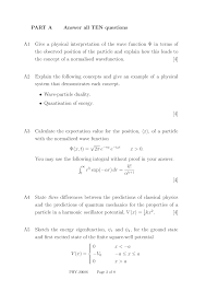 physical interpretation quantum mechanics exam docsity