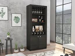 buffet sideboard cabinet storage kitchen hallway table industrial rustic tuhome montenegro industrial bar cabinet with wine storage