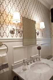 wallpaper designs for bathrooms best 25 small bathroom wallpaper ideas on half