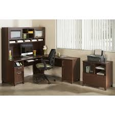Bush Lateral File Cabinet by Bush Office Connect Achieve L Shaped Desk With Hutch And Lateral