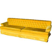 vintage mustard yellow velvet couch ebth