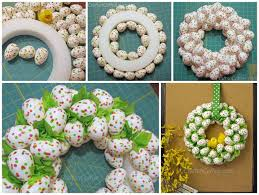 how to make an easter egg wreath to make diy easter wreaths you should not miss