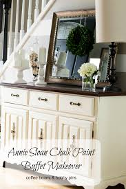 annie sloan chalk paint buffet makeover coffee beans and bobby pins