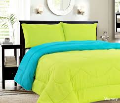 Home Classics Reversible Down Alternative Comforter Down Alternative Reversible Comforter Turquoise Lime