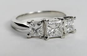 princess cut 3 engagement rings three princess cut engagement ring engagement ring wall