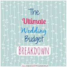 wedding budget planner wedding planning wedding budget breakdown allfreediyweddings