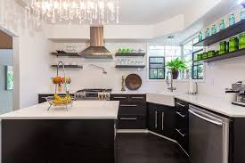 contemporary kitchen with farmhouse sink u0026 european cabinets in