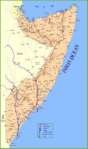 Large World Maps by Large Detailed Map Of Somalia With Cities And Towns
