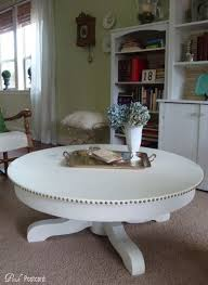 round white wood coffee table before after eight amazing coffee table makeovers