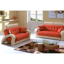 Beige Leather Living Room Set 1546 2 Pcs Living Room Set Sofa And Loveseat In Orange And