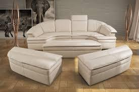 canapé demi cercle canapé modulable en arc de cercle contemporain en cuir