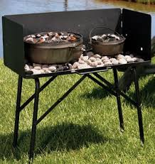Lodge C Dutch Oven Cooking Table With Tall Windscreen Dutch