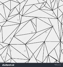 geometric simple black white minimalistic pattern stock vector