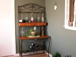 kitchen bakers cabinet hutch with wine rack french country wine rack cabinet my with