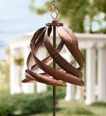 Garden Spinners And Decor Mini Metal Wind Spinners Set Of 2 Garden Accents Garden