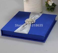 Royal Blue Wedding Invitations Online Shop Royal Blue Wood Wedding Invite Silk Wedding