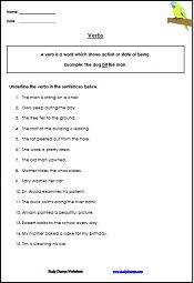 verb worksheets studychamps