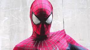 closer look at the amazing spider man 2 spider man movie costume