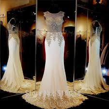 Ivory Wedding Dresses Aliexpress Com Buy Real Sample Gold Embroidery Beaded Long