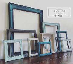 Wall Picture Frames diy painted thrift store picture frames thirty eighth street