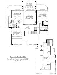 Four Bedroom House Floor Plans by House Plans With Loft Besides 2 Story 4 Bedroom House Plans With