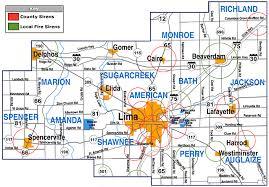 map of allen siren map allen county ohio ema