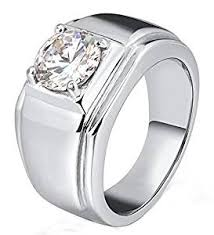 simple class rings images Gnzoe men stainless steel ring for father class ring clear crystal jpg