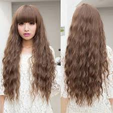 light brown curly hair amazon com cosme light brown wig long curly hair women cosplay