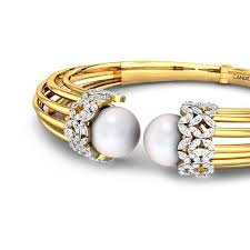 bracelet diamond pearl images Round pearl yellow gold 18k stars and stripes diamond bracelet jpg