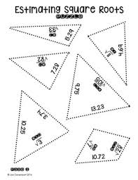 estimating square roots star shaped puzzle by lisa davenport tpt