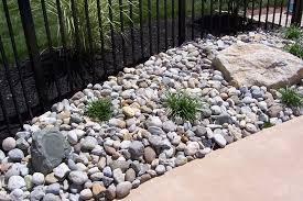 design of river rock landscaping ideas river rock dry creek bed