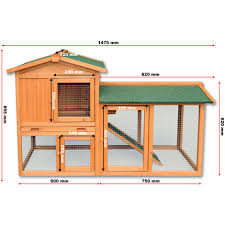Pet Hutch Chicken Coop Hen House Poultry Pet Hutch Bunny House Large Run