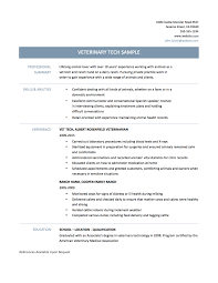 Resume Template Tips Veterinary Technician Resume Examples Resume Example And Free