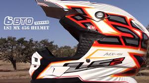 motocross helmet light ls2 mx 456 helmet bto tested youtube