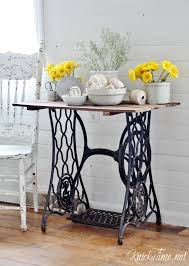 Singer Sewing Machine Desk Antique Sewing Machine Table Via Knickoftime Net