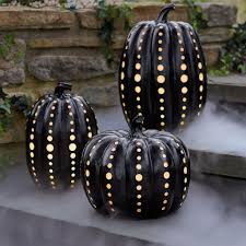 black illuminated pumpkins kid friendly stylish halloween decor