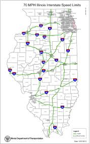 Illinois Highway Map by Idot Announces 70 Mph Speed Limit Locations Theexpiredmeter Com