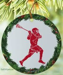 lacrosse personalized ornament snowflakes lacrosse and